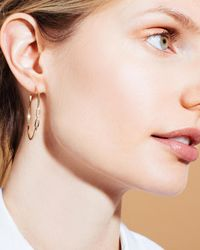 Sophie Ratner Metallic Diamond Clasp Hoops