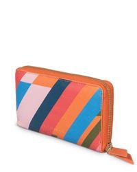 Oliver Bonas Multicolor Summer Stripe Zipped Purse