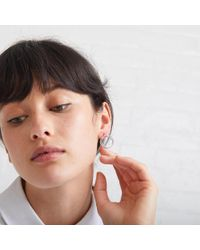 Oliver Bonas - Brown Meisel Double Circle Stud Earrings - Lyst