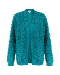 Oliver Bonas Touch Loop Blue Knit Cardigan