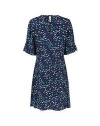 Oliver Bonas Blue Starry Night Tea Dress
