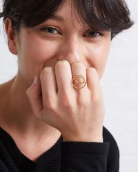 Oliver Bonas Metallic Swirl Wire Gold Plated Ring