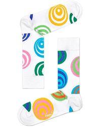 Happy Socks White Weiße Socken Hypnosis