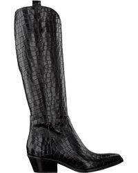 Notre-v Black Schwarze Hohe Stiefel 05a-304