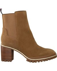 Tommy Hilfiger Natural Taupe Stiefeletten Sporty Mid Heel