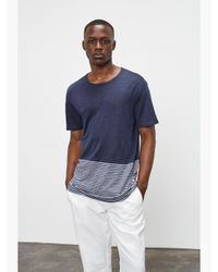 Onia - Blue Chad Color Block Tee for Men - Lyst