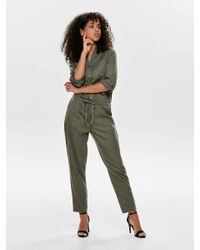 ONLY Green Lyocell Jumpsuit
