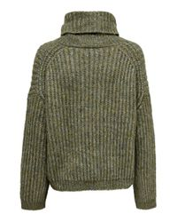 ONLY Gray Rollkragen Strickpullover