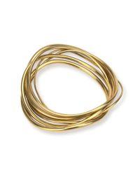 Soko - Multicolor Wavy Bangle Stack Bracelets - Lyst