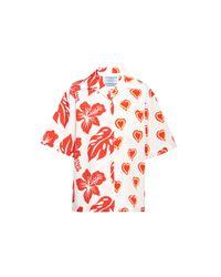 Prada Red Poplin Shirt