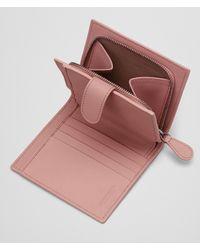 Bottega Veneta Pink Mini Wallet