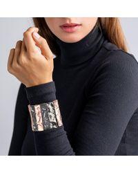 Kenneth Jay Lane Multicolor Textured Tritone Bars Stretch Bracelet