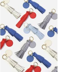 NEELY & CHLOE Black The Tassel With Key Ring Tag Pebble