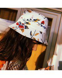 Maje White Bucket Hat