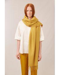 Mansur Gavriel Yellow Cashmere Winter Scarf - Mustard