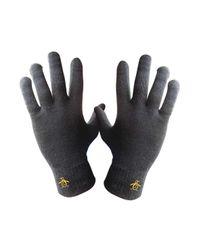 Original Penguin - Black Symes Glove for Men - Lyst