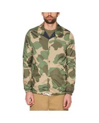 Original Penguin Blue Reversible Camo Coaches Jacket for men