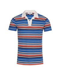 Orlebar Brown Blue Resort-polo Admiral/sea Breeze/blush for men