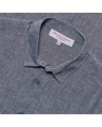 Orlebar Brown - Blue Morton Long-sleeved Linen Shirt for Men - Lyst