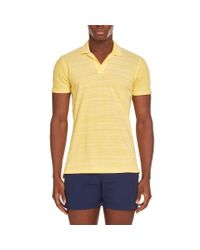 Orlebar Brown - Felix Pique Resort-polo In Toucan Yellow/cloud Melange-pikee for Men - Lyst