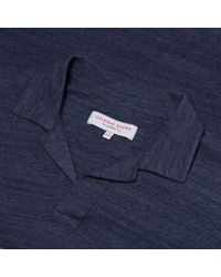 Orlebar Brown - Blue Felix Pique Resort-polo In Navy/cloud Melange-pikee for Men - Lyst