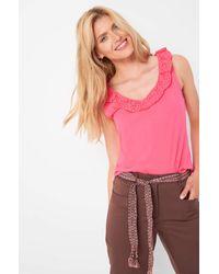 ORSAY Pink Shirt mit Rüschen