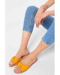 ORSAY Yellow Pantoletten mit Zierknoten