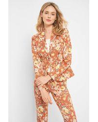 ORSAY Orange Blazer mit Blumenmuster