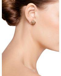 Oscar de la Renta Metallic Tailored Mosaico Earrings