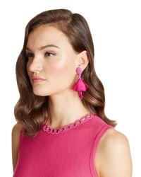 Oscar de la Renta - Pink Mini Impatiens Drop Earrings - Lyst