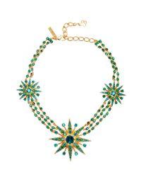 Oscar de la Renta | Multicolor Crystal Star Necklace | Lyst