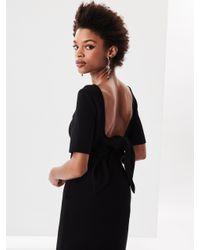 Oscar de la Renta - Black Knit Wool Dress - Lyst