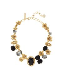 Oscar de la Renta | Metallic Crystal Collar Necklace | Lyst