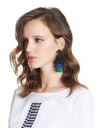 Oscar de la Renta | Multicolor Long Silk Tiered Tassel Earrings | Lyst