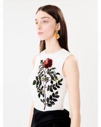 Oscar de la Renta - Multicolor Delicate Flower Drop Earrings - Lyst