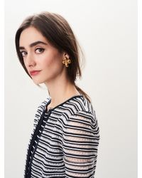 Oscar de la Renta - Multicolor Grapefruit Flower Button Earrings - Lyst
