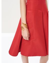 Oscar de la Renta - Metallic Palm Leaf Bracelet - Lyst