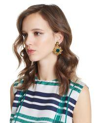 Oscar de la Renta - Multicolor Filigree Resin Earrings - Lyst