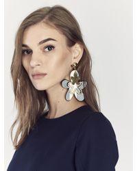 Oscar de la Renta - Metallic Botanical Scribble Layered Earrings - Lyst