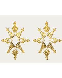 Zoe & Morgan | Metallic Stardust Gold Earrings | Lyst