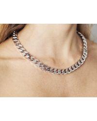 Maria Francesca Pepe   Metallic Chunky Silver Chain   Lyst