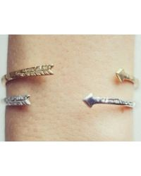 Odette New York | Metallic Arrow Cuff Gold | Lyst