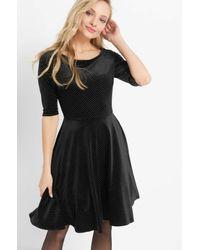 ORSAY Black Abendkleid stylischer Punkteprint