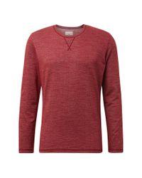Tom Tailor Langarmshirt »Langarmshirt mit abgesetzter Blende« in Red für Herren