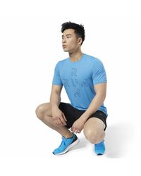 Reebok T-Shirt »One Series Running ACTIVCHILL T-Shirt« in Blue für Herren