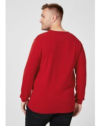 S.oliver Big Size-Pullover in Red für Herren