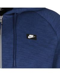 Nike Kapuzensweatjacke »Optic Fleece« in Blue für Herren