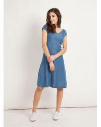 Mavi Blue A-Linien-Kleid »SLEEVELESS DENIM DRESS« Kleid im Denim-Look