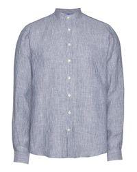 Lindbergh Langarmhemd mit Streifen in Blue für Herren