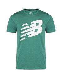 New Balance Trainingsshirt »Graphic Heathertech« in Green für Herren